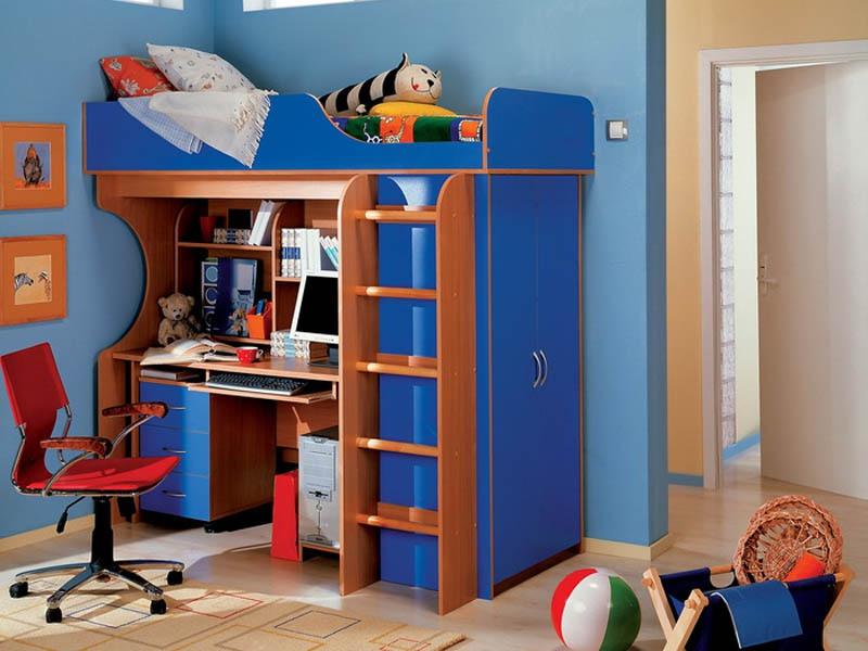 Кровать и стол для школьника своими руками 162